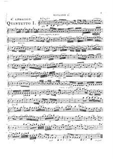Струнные квинтеты, Op.46: Квинтет No.1 си-бемоль мажор, G.359 by Луиджи Боккерини