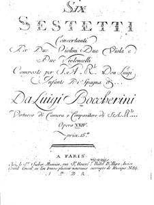 Шесть секстетов для струнных, G.454-459 Op.23: Скрипки I by Луиджи Боккерини