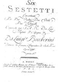 Шесть секстетов для струнных, G.454-459 Op.23: Скрипки II by Луиджи Боккерини