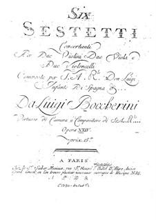 Шесть секстетов для струнных, G.454-459 Op.23: Партии первого альта by Луиджи Боккерини