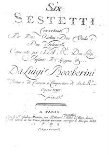 Шесть секстетов для струнных, G.454-459 Op.23: Партии второго альта by Луиджи Боккерини