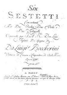 Шесть секстетов для струнных, G.454-459 Op.23: Партии первой виолончели by Луиджи Боккерини