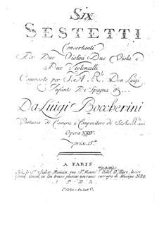 Шесть секстетов для струнных, G.454-459 Op.23: Партии второй виолончели by Луиджи Боккерини