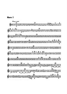 Симфония No.1 си-бемоль мажор, G.493 Op.21: Партии валторн by Луиджи Боккерини