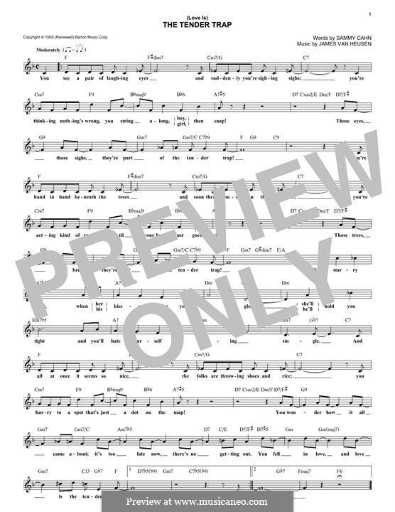 (Love Is) The Tender Trap (Frank Sinatra): Для клавишного инструмента by Jimmy Van Heusen