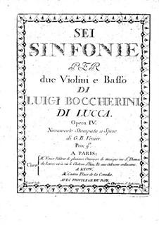 Шесть струнных трио, Op.4: Скрипки II, G.83-88 by Луиджи Боккерини