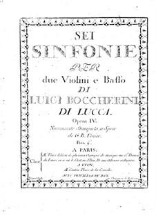Шесть струнных трио, Op.4: Партия виолончелей, G.83-88 by Луиджи Боккерини