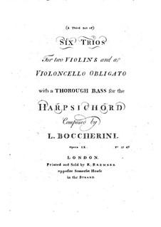 Шестьструнных трио, Op.6: Скрипки I, G.89-96 by Луиджи Боккерини