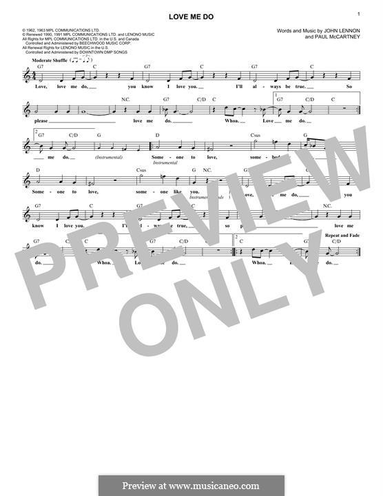 Love Me Do (The Beatles): Для клавишного инструмента by John Lennon, Paul McCartney