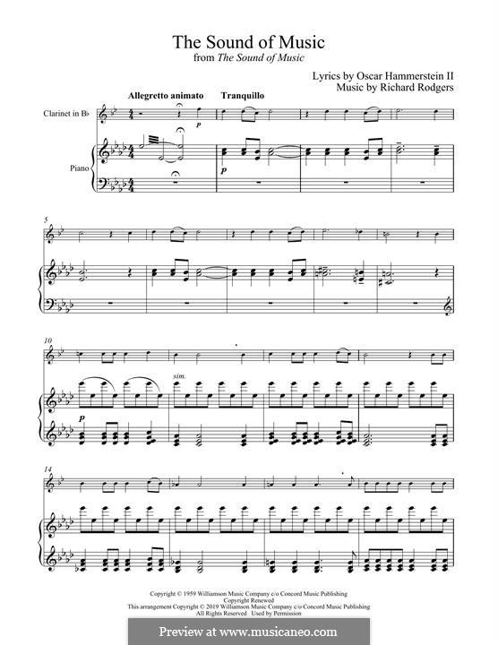 The Sound of Music: Для кларнета и фортепиано by Richard Rodgers