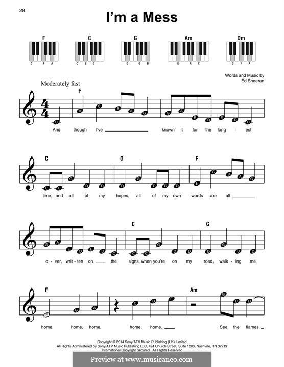 I'm a Mess: Для фортепиано by Ed Sheeran