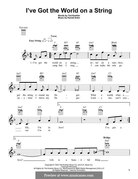 I've Got the World on a String: Для укулеле by Harold Arlen
