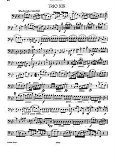 Фортепианное трио No.5 соль минор, Hob.XV/1: Партия виолончели by Йозеф Гайдн