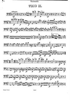 Фортепианное трио No.40 фа-диез минор, Hob.XV/26: Партия виолончели by Йозеф Гайдн