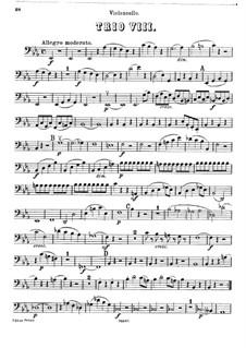 Фортепианное трио No.42 ми-бемоль мажор, Hob.XV/30: Партия виолончели by Йозеф Гайдн