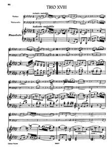 Фортепианное трио No.41 ми-бемоль минор, Hob.XV/31: Партитура by Йозеф Гайдн