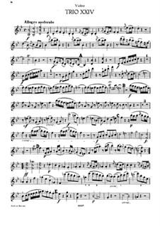 Фортепианное трио No.21 си-бемоль мажор, Hob.XV/8: Партия скрипки by Йозеф Гайдн