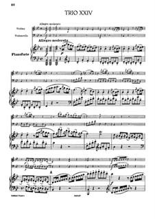 Фортепианное трио No.21 си-бемоль мажор, Hob.XV/8: Партитура by Йозеф Гайдн
