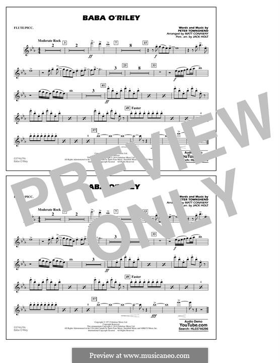 Baba O'Reilly (from Summer of Sam): Flute/Piccolo part by Peter Townshend