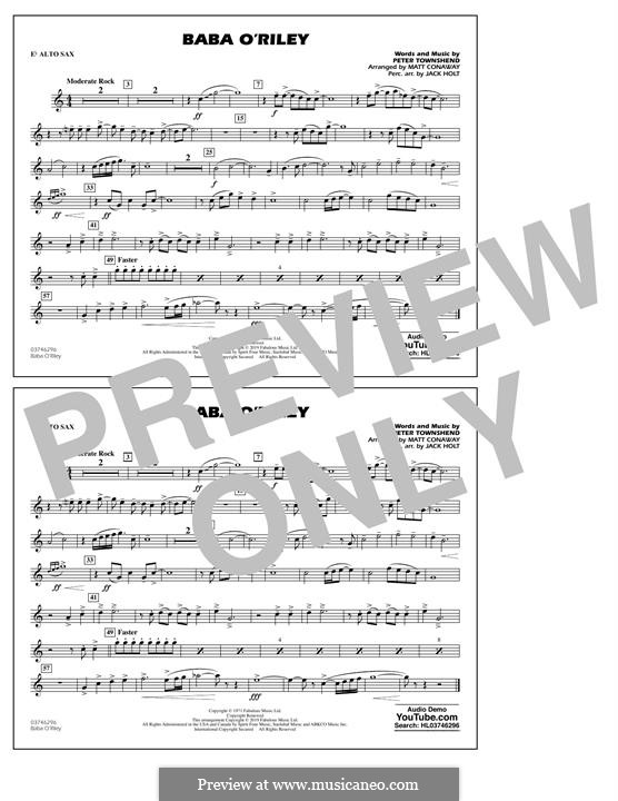 Baba O'Reilly (from Summer of Sam): Eb Alto Sax part by Peter Townshend