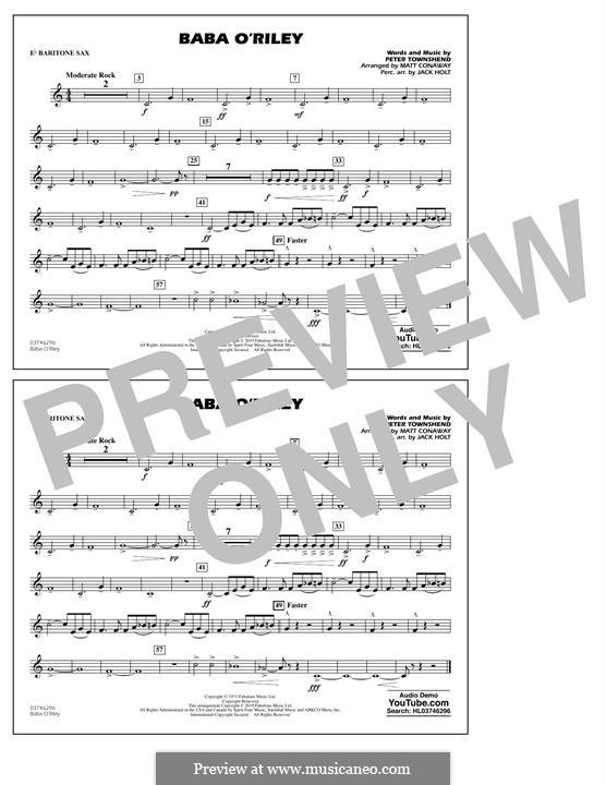 Baba O'Reilly (from Summer of Sam): Eb Baritone Sax part by Peter Townshend