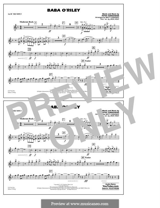 Baba O'Reilly (from Summer of Sam): 1st Bb Trumpet part by Peter Townshend