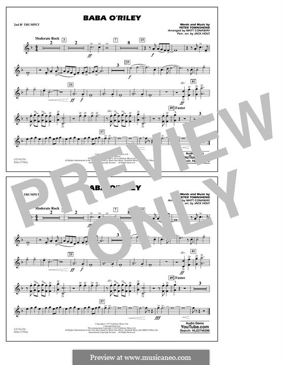 Baba O'Reilly (from Summer of Sam): 2nd Bb Trumpet part by Peter Townshend