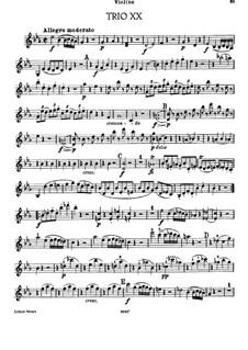 Фортепианное трио No.23 ми-бемоль мажор, Hob.XV/10: Партия скрипки by Йозеф Гайдн