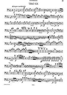 Фортепианное трио No.23 ми-бемоль мажор, Hob.XV/10: Партия виолончели by Йозеф Гайдн