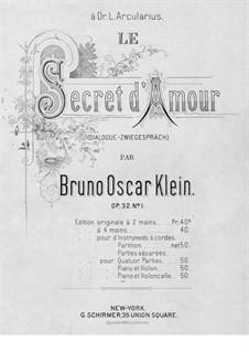 Le secret d'amour, Op.32 No.1: Для виолончели и фортепиано by Bruno Oscar Klein