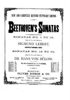 Соната для фортепиано No.16, Op.31 No.1: Для одного исполнителя (с аппликатурой) by Людвиг ван Бетховен