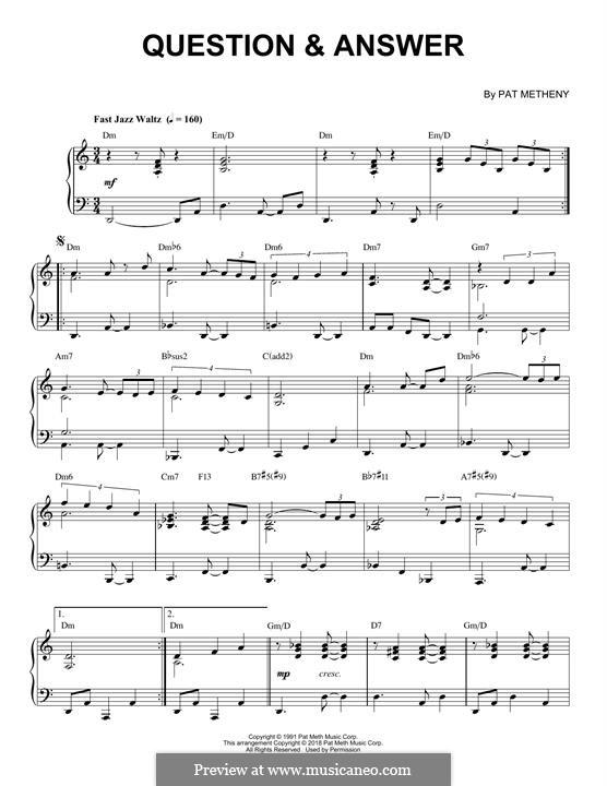 Question & Answer: Для фортепиано by Pat Metheny