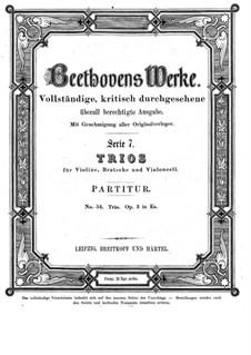 Струнное трио No.1 ми-бемоль мажор, Op.3: Партитура by Людвиг ван Бетховен