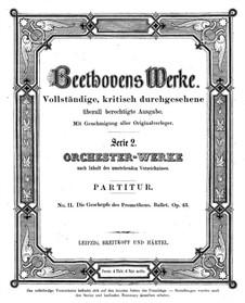 Творения Прометея, или Власть музыки и танца, Op.43: Партитура by Людвиг ван Бетховен