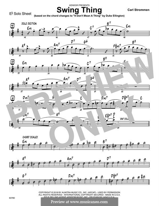 Swing Thing: Eb Solo Sheet part by Carl Strommen
