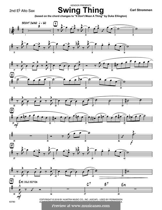Swing Thing: 2nd Eb Alto Saxophone part by Carl Strommen