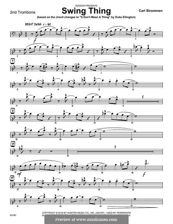 Swing Thing: 2nd Trombone part by Carl Strommen