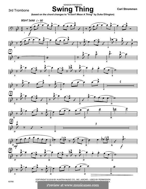 Swing Thing: 3rd Trombone part by Carl Strommen