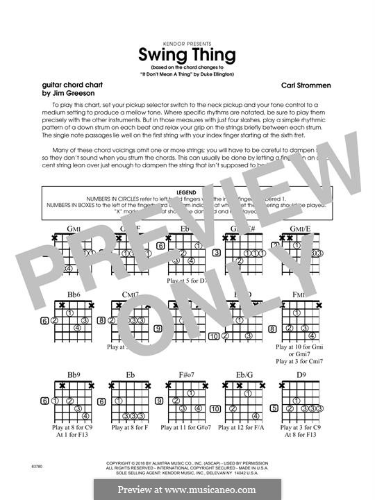Swing Thing: Guitar Chord Chart part by Carl Strommen