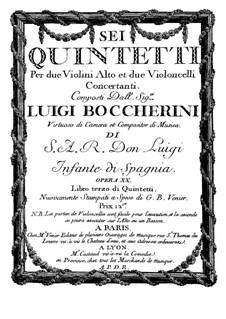 Струнные квинтеты, Op.13: Квинтет No.3 фа мажор – партия второй скрипки, G.279 by Луиджи Боккерини
