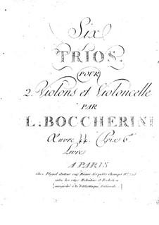 Струнные трио, G.116-118 Op.54: Партия виолончелей by Луиджи Боккерини
