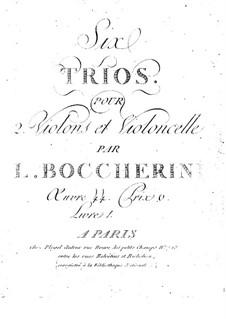 Струнные трио, G.116-118 Op.54: Скрипки I by Луиджи Боккерини