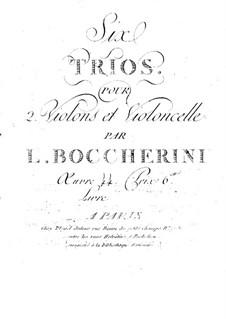 Струнные трио, G.116-118 Op.54: Скрипки II by Луиджи Боккерини