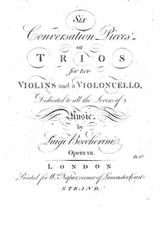 Шесть струнных трио, Op.7 G.125-130: Скрипки I by Луиджи Боккерини