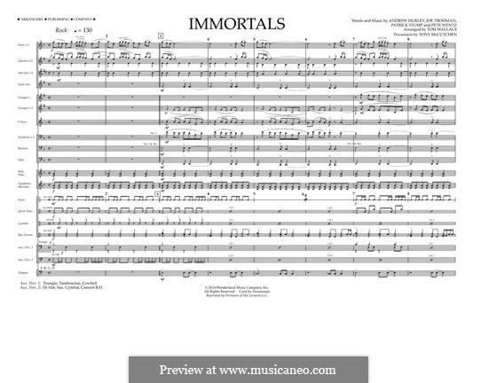 Immortals (Fall Out Boy): Партитура by Andrew Hurley, Joseph Trohman, Patrick Stump, Peter Wentz