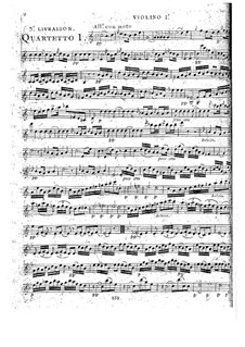 Струнные квартеты, Op.52: Квартет No.1 до мажор, G.232 by Луиджи Боккерини