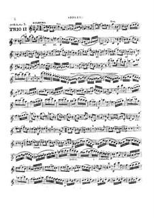Три струнных трио, Op.5: No.2 – партии by Александр Пьер Франсуа Боэли