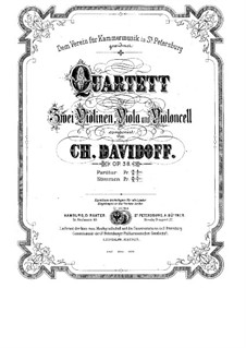 Струнный квартет ля мажор, Op.38: Струнный квартет ля мажор by Фердинанд Давид
