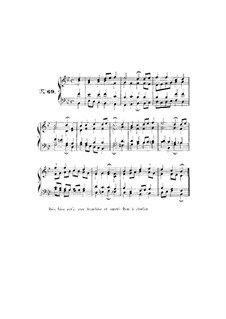 Choix de chorals: Choral No.69 by Иоганн Себастьян Бах