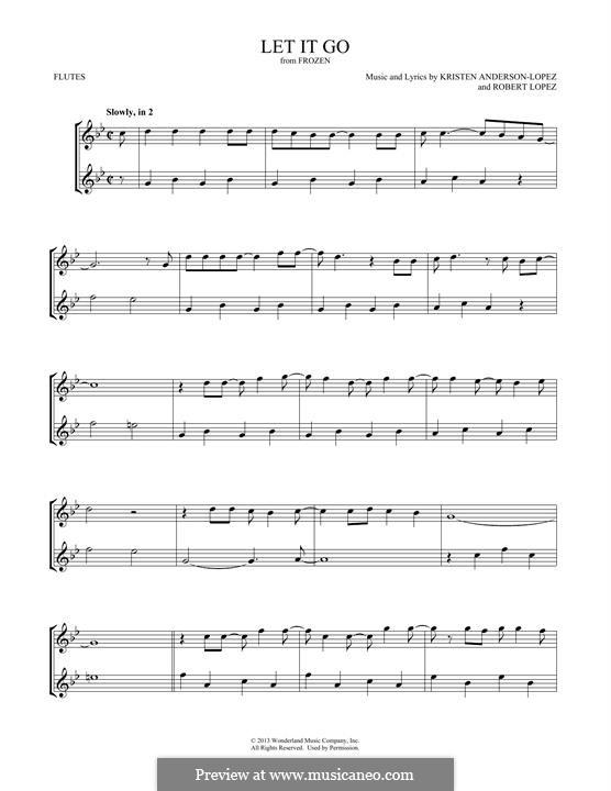 Instrumental version: Для двух флейт by Robert Lopez, Kristen Anderson-Lopez